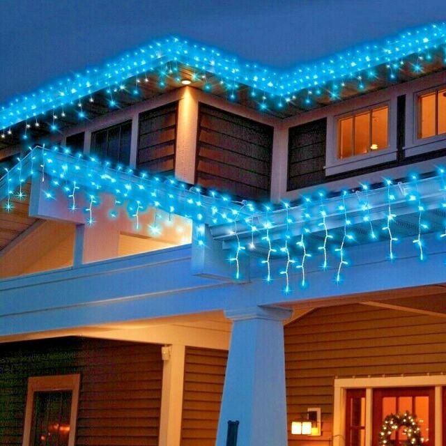 Christmas Icicle Lights High Density