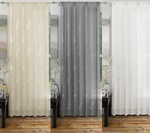 Image Is Loading ANALISE PLAIN LINEN LOOK NET VOILE CURTAIN DOOR