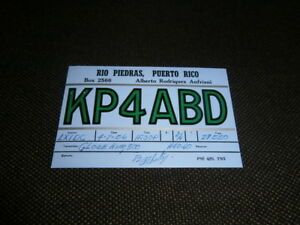 carte QSL radio amateur cibiste RIO PIEDRAS PUERTO RICO 1956 porto rico 1K032f7U-09090535-195967959
