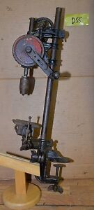 Rare Antique Miller Falls 21 Hand Bench Drill Press Collectible Jeweler Tool Ebay