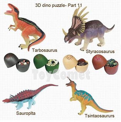 Set of 4 Dinosaur Dino Part III 4D 3D Puzzle Egg Model Kit DIY Educational Toy