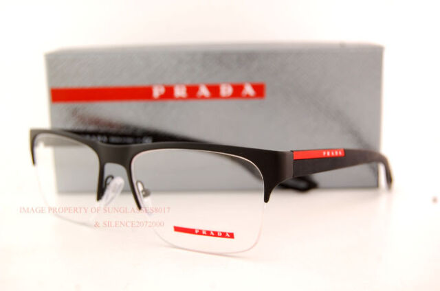 08ec84ae6fb4 Brand New Prada Sport Linea Rossa Eyeglass Frames PS 55FV DG0 MATTE BLACK  Men