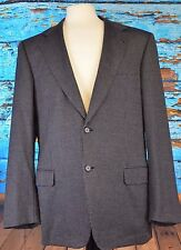 Brioni Nomentano Size 44L Dark Gray Suit Italy Double Vent Speckled Coat