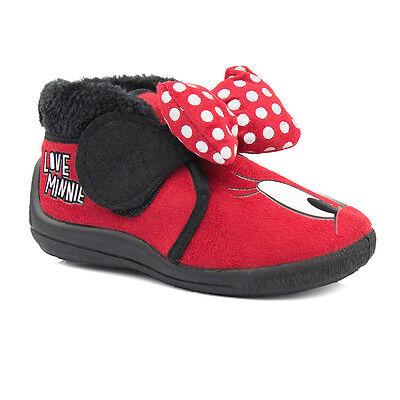 NEU Disney MINNIE Mouse Maus Kinderschuhe Hausschuhe Mädchen Pantoffeln 20 - 27