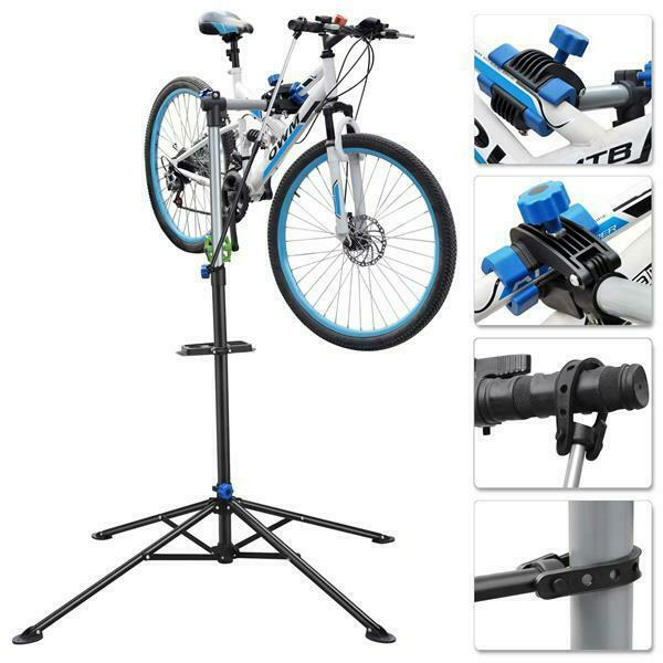 8b34d25e72b Adjustable Bicycle Bike Repair Stand Cycle Maintenance Mechanic Workstand  Rack for sale online