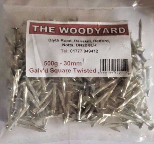 500g 30mm GALAVANISED SQUARE TWISTED NAILS