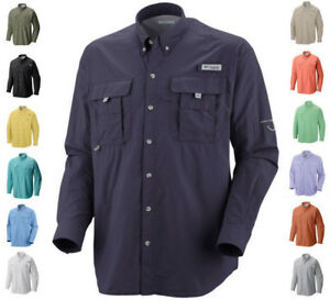 NEW-COLUMBIA-Men-s-PFG-Bahama-II-Long-Sleeve-Fishing-Shirt-UPF-30-Vented