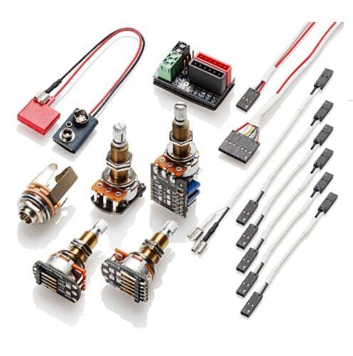 1 or 2 pickups w//push pull pot Solderless wiring kit EMG Long shaft