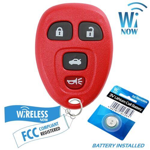 Car Key Fob Keyless Entry Remote 4Btn Red For 2007 2008 2009 2010 Saturn Sky