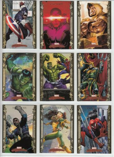 2007 Marvel Masterpieces GOLD BORDER Parallel PICK Choose Card Set Singles #1-90