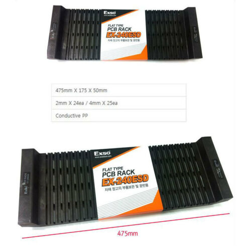 PCB RACK EXSO Flat Type PCB Rack Circuit Board Conductive Shelf Stack EX-240ESD
