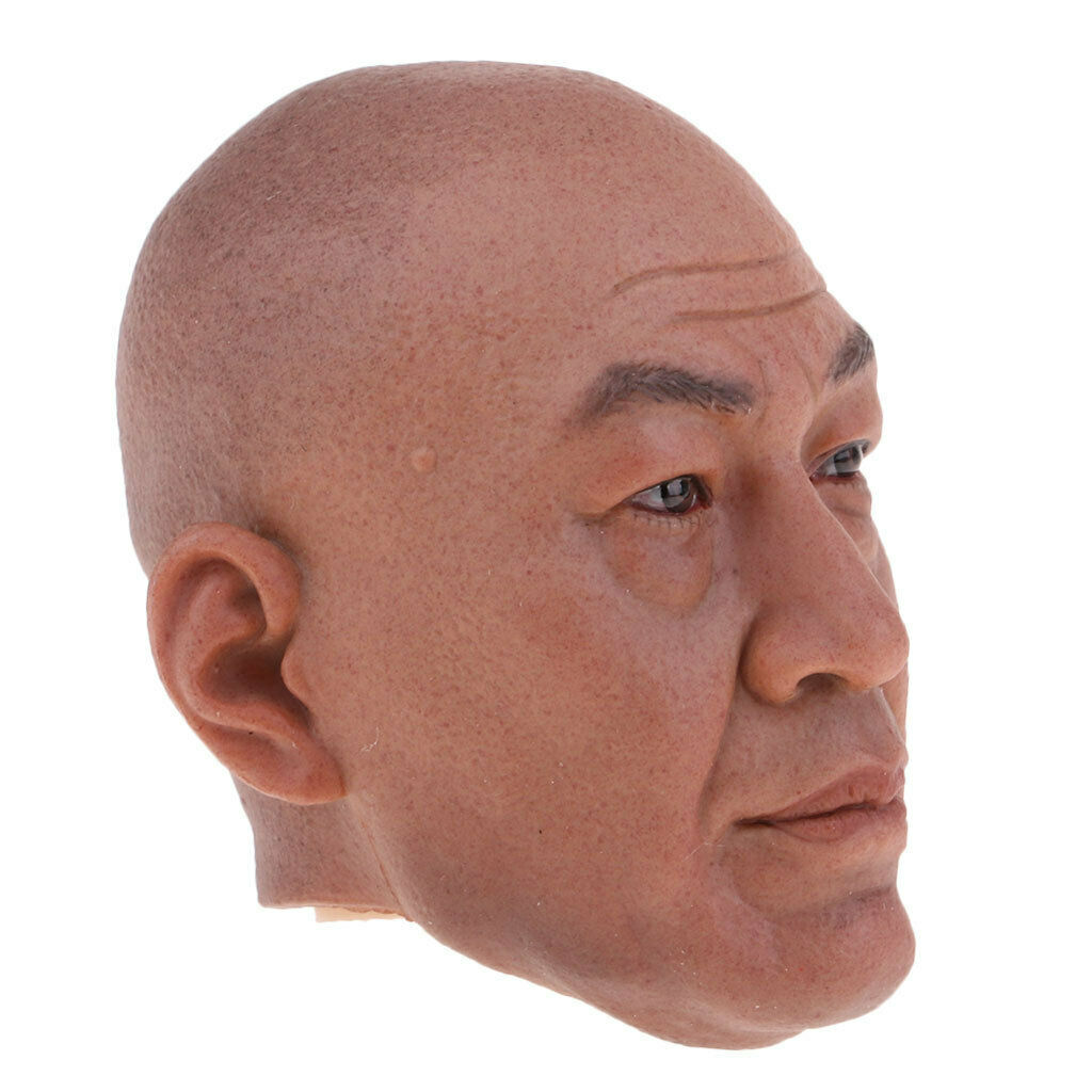 1 6 Scale Scale Scale Asian Man Head Carving Model for 12Inch Action Figure Male Phicen a9c943