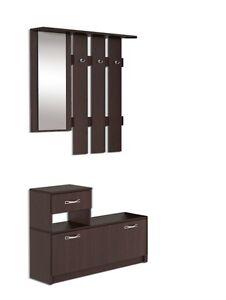 Garderoben set carla mit spiegel garderobe garderobenset for Garderoben set mit spiegel