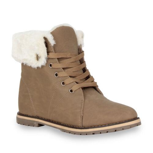 Warm Gefütterte Damen Stiefeletten /& Stiefel Outdoor Boots 99866 Gr 36-41 Top