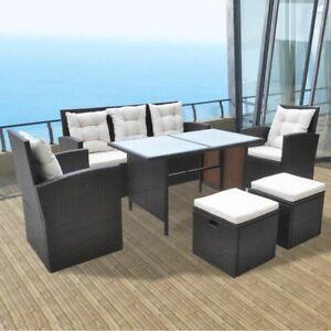 vidaXL-10-Piece-Outdoor-Dining-Set-Poly-Rattan-Wicker-Brown-Garden-Chairs-Sofa