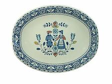 JOHNSON BROTHERS china HEARTS & FLOWERS old granite OVAL MEAT Serving PLATTER 12