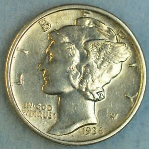 UNCIRCULATED-1936-P-Silver-Mercury-Dime-90-Silver-Fast-Shipping-76782