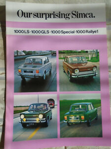 CATALOGUE //PROSPECTUS SIMCA 1100 LS 1972