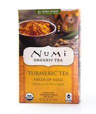 Numi Organic Turmeric Tea, Fields of Gold, Blended w/ Chamomile & Lemon Myrtle,