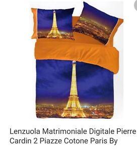 Lenzuola Matrimoniali Pierre Cardin.Completo Lenzuola Matrimoniale Pierre Cardin Paris By Night 4d Ebay