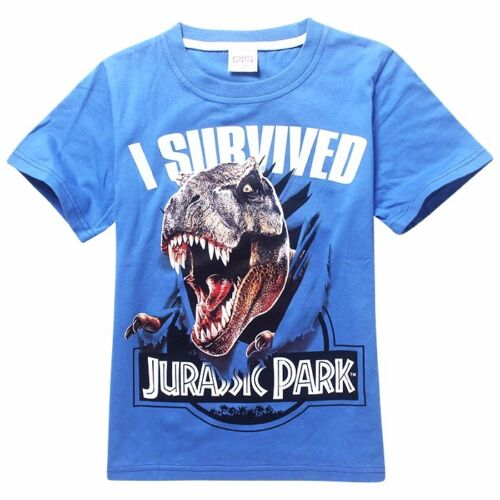 Top Quality boys New Jurassic World T shirt Tops Kids 4 5 6 7 8 YEARS 100/%cotton