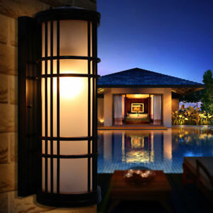 European-Outdoor-Balcony-Single-Light-Wall-Lamp-Glass-Aluminum-vintage-Style