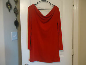 8746b6fdb08 Together Size S Red Long Blouse or Short Dress Necklace in Back ...