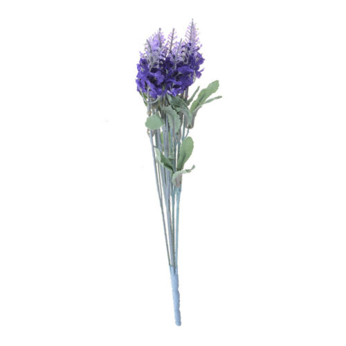 1 Bouquet 10 Heads Artificial Silk Lavender Flower Home Wedding Garden DecoBLUS