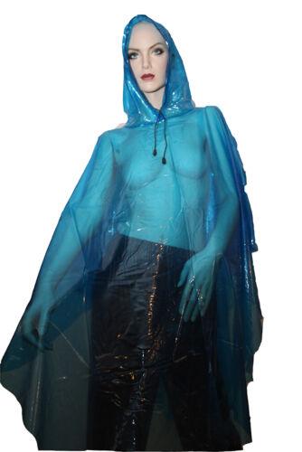 Cape Cosy raincape IMPERMEABLE Poncho toile de 100/% PVC cristallin