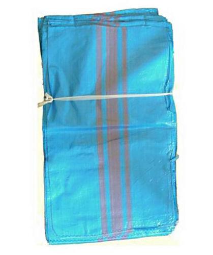Sandsäck 30 St  Schwerlastsack Gewebesäcke 65 x 110 cm S Getreidesack blau