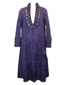 Dark gancio Chiusura Jacket centro occhi a Long e Xl Star Purple al Brocade Y8frwYq