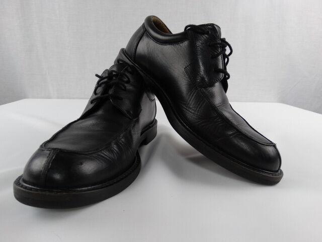 JOHNSTON & MURPHY 20-2188 BLACK LEATHER OXFORDS DRESS SHOES MENS 9.5 MEDIUM