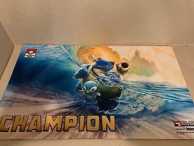 Pokemon Blastoise /& Piplup GX CHAMPION Playmat League Cup Winner New Unused Mat