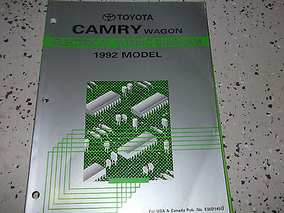 1992 Toyota CAMRY WAGON Electrical Wiring Diagram ...