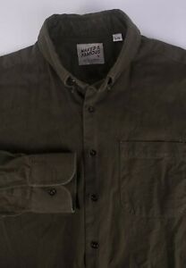Naked-amp-Famous-Shirt-Dark-Green-Size-L-F0111a6