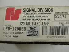 New Federal Signal Led 120rsb Red 120vac