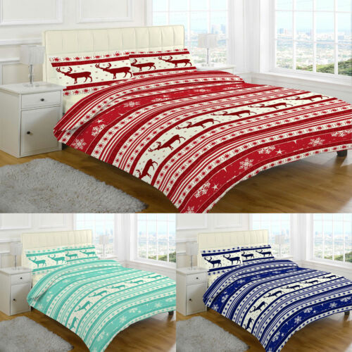 Christmas Duvet Cover Set Quilt Pillow cases single Double Super King size Print