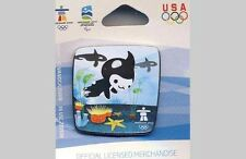 VANCOUVER OLYMPICS 2010 MASCOT MIGA WITH ORCAS PIN