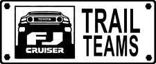 2pcs TOYOTA TRAIL TEAM FJ Cruiser Vinyl Decal Fender Sticker Graphic WHITE COLOR
