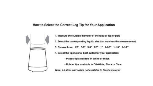 Shepherd Hardware 9225 1-1//2-Inch Inside Diameter Rubber Leg Tips 2-Pack,