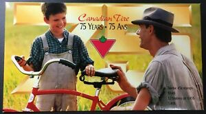 Canada-Post-1997-Canadian-Tire-75th-Anniversary-Pane-in-Folder-1636