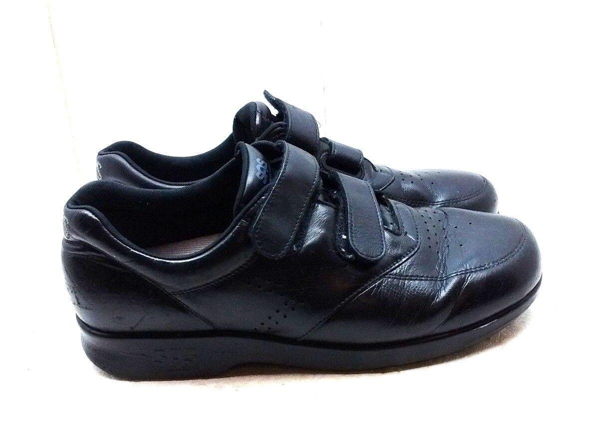 Special Air Service tripad Femme Cuir noir 2 Bride Confort Mocassin Robe Décontractée chaussures 10.5 m