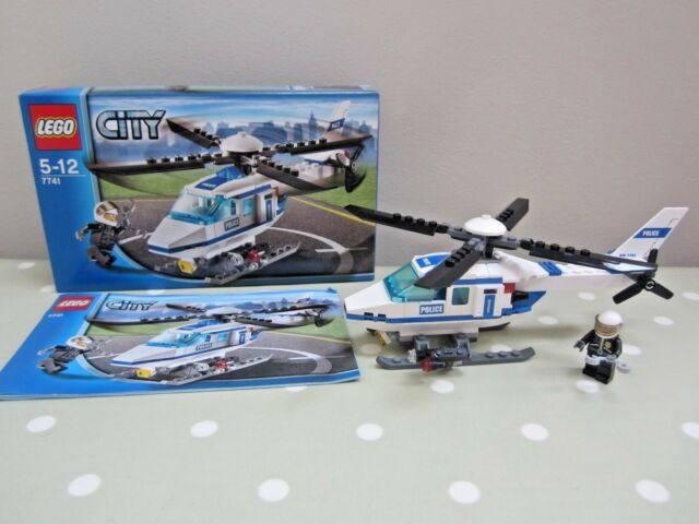 Lego City 7741 Police Helicopter With Instructions Ebay