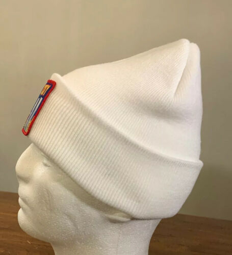 SUPREME// NY PATCH BEANIE WHITE OS BRAND NEW IN HAND FW19 WEEK 13 AUTHENTIC