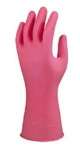 Marigold W62P rose Gants en caoutchouc taille L 8.5 Neuf dans emballage