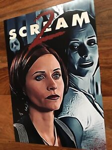 Details about Scream 2 Gale Weathers A4 Art Print  Courtney Cox Ghostface  Movie Poster Cult