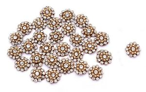 Sewing-Rhinestone-Floral-Applique-Craft-Dressing-12-PC-Appliques-Ethnic-Handmade