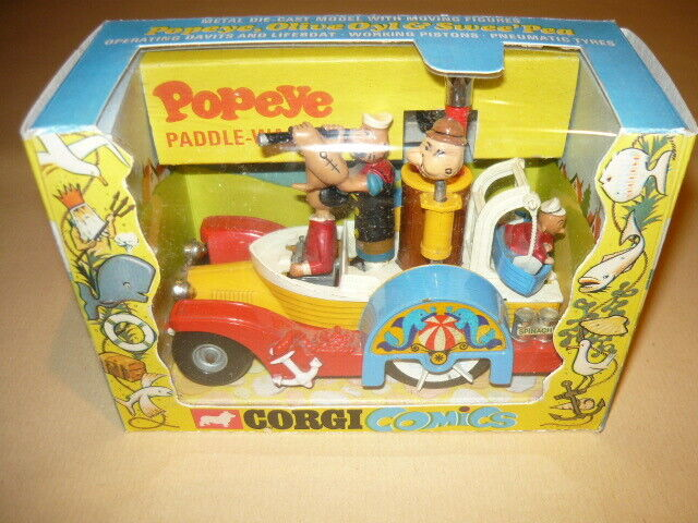 CORGI TOYS 802 POPEYE PADDLE WAGON BRACCIO DI FERRO COMICS MODEL CAR
