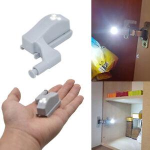 1 2 6 10 stk 12v schrank scharnier led sensor licht f r kleiderschrank heimk che ebay. Black Bedroom Furniture Sets. Home Design Ideas