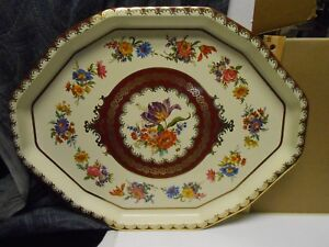 Vintage Daher Decorated Ware Metal Tin Tray Long Island Ny 11101